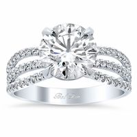 Triple Shank Pave Diamond Engagement Ring