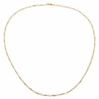 Twisted Chain Diamond Station Necklace