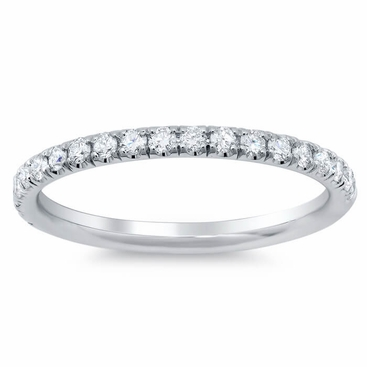 U Pave Diamond Wedding Band - click to enlarge