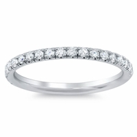 U Pave Diamond Wedding Band