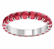 U-Pave Set Ruby Eternity Band