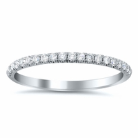 U-Pave Wedding Ring with Diamonds