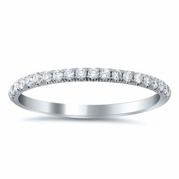 U-Pave Wedding Ring with Diamonds - click to enlarge