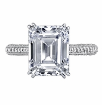 'Victoria' Diamond Accented Engagement Ring