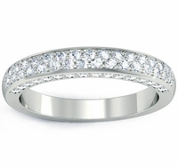 Wedding Band with Pave Diamonds