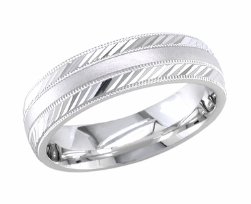 Wedding Ring for Men or Women 6.5 mm Comfort Fit - click to enlarge