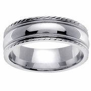 White Gold Mens Wedding Ring