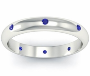 Domed Blue Sapphire Landmark Eternity Ring