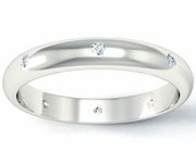 Domed Diamond Landmark Eternity Ring