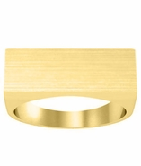 Wide Flat Signet Ring