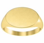 Wide Oval Mens Signet Ring