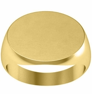 Wide Oval Signet Ring 14k