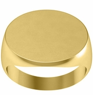 Wide Oval Signet Ring