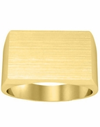 Wide Rectangular Signet Ring