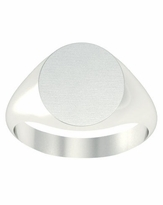 Wide Solid Back Signet Rings 14kt