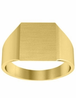 Wide Yellow Gold Ladies Signet Ring