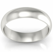 Women's Domed Palladium Ring
