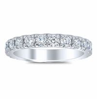 Women's Eternity Band 3mm Forever One Moissanite U Pave