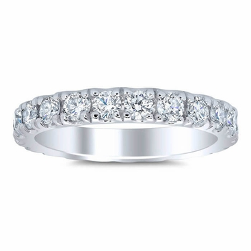 Women's Eternity Band 3mm Forever One Moissanite U Pave - click to enlarge