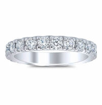 2.20 ctw Women's Eternity Band Forever One Moissanite U Pave