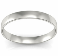 Women's Plain Wedding Band with Milgrain (3 mm)