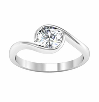 Wrapped Bezel Solitaire Engagement Ring