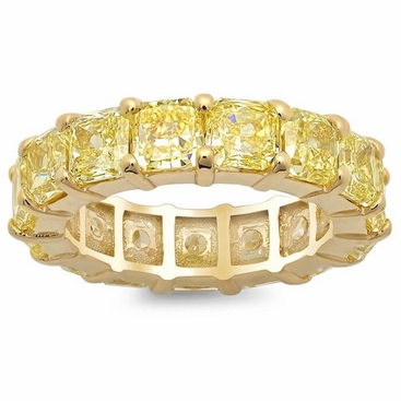 Yellow Diamond and Yellow Gold Eternity Ring - click to enlarge