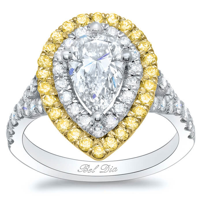 and shaped diamond rings pear round engagement the gorgeous ring