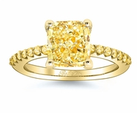 Yellow Diamond Engagement Ring with Yellow Diamond Accents