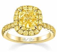 Yellow Canary Diamond Engagement Rings