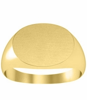 Yellow Gold Oval Gold Signet Ring