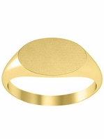 Yellow Gold Signet Rings For Women