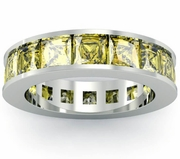 Yellow Sapphire Birth Stone Eternity Band