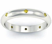 Yellow Sapphire Domed Landmark Eternity Ring