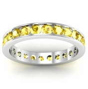 Yellow Sapphire Eternity Band in Channel Setting