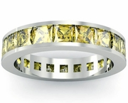 Yellow Sapphire Gemstone Eternity Band