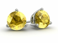 Yellow Sapphire Gold Earrings