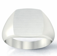 Your Initials on Engraved Signet Ring