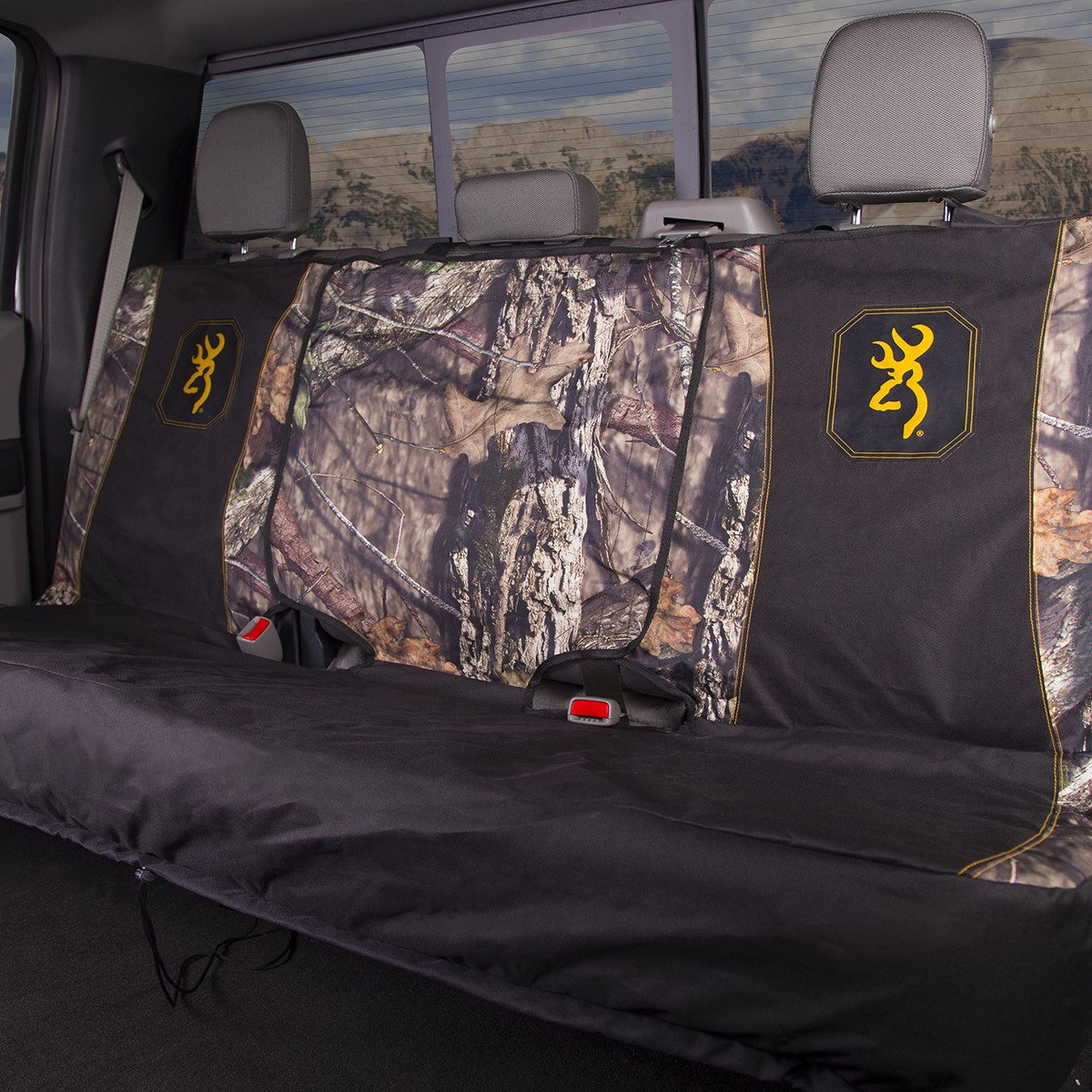 Outstanding Browning Bench Seat Cover Mossy Oak Country Camouflage Bralicious Painted Fabric Chair Ideas Braliciousco