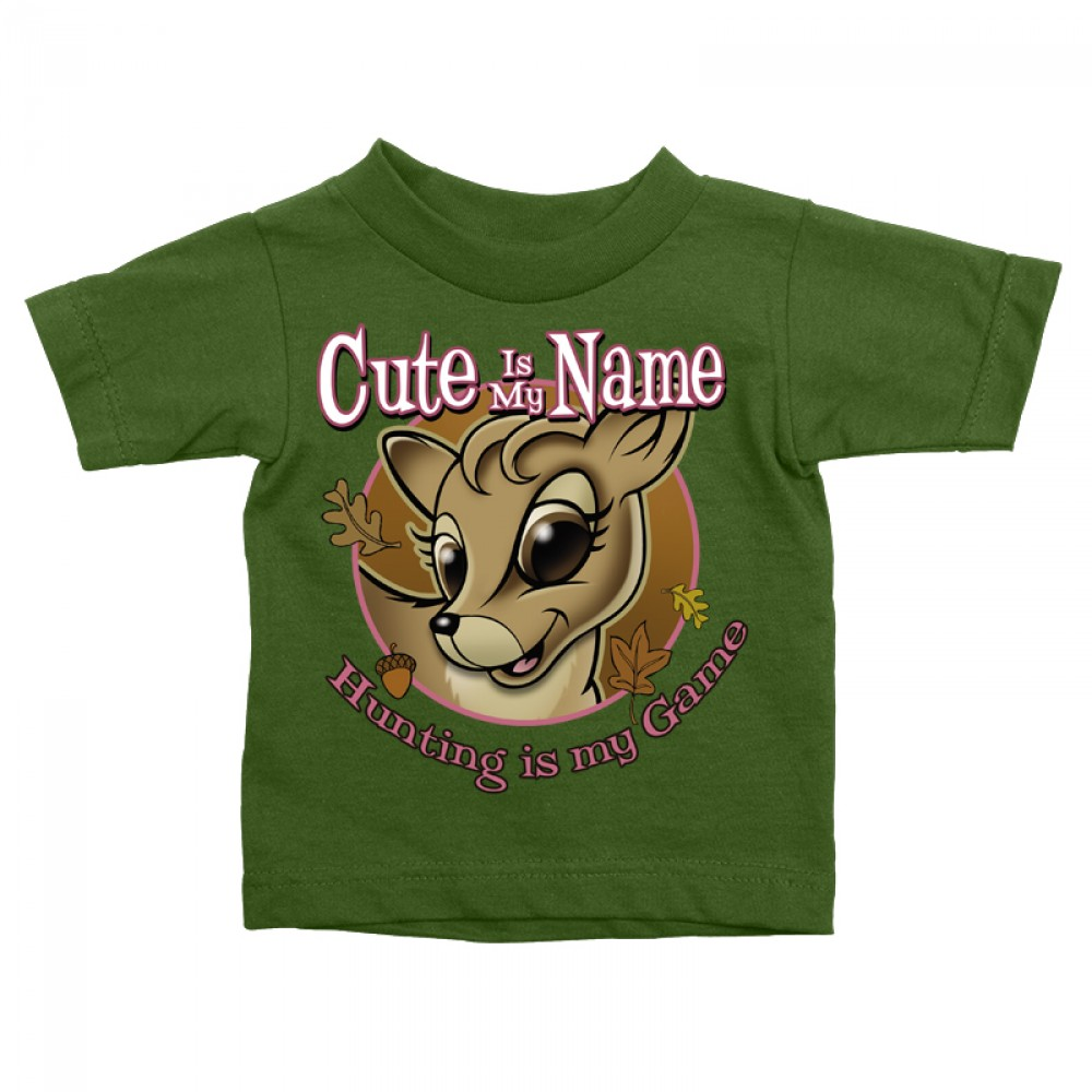 322ee3bee2c2 Buck Wear Hunting T-Shirt Baby Infant Toddler Cute Is My Name