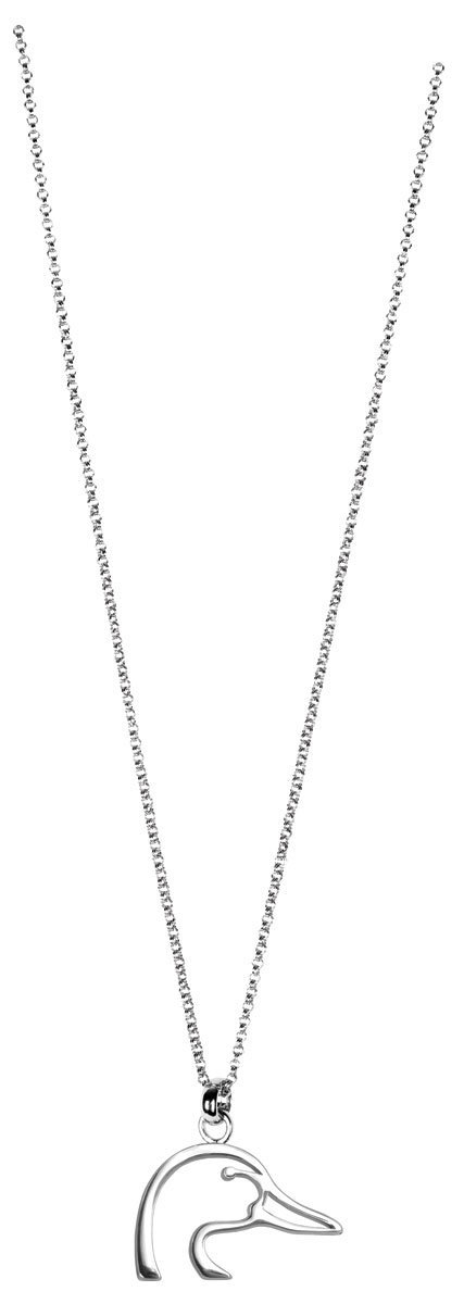 ducks unlimited silver charm necklace
