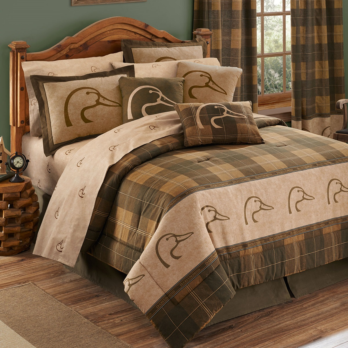 Ducks Unlimited Plain Bedding Bed In A Bag Comforter Sheets