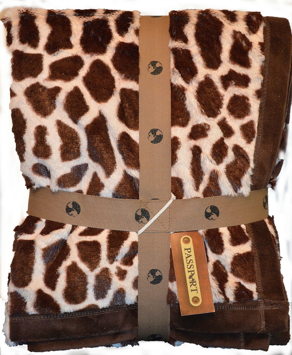 Giraffe African Animal Print Throw Blanket