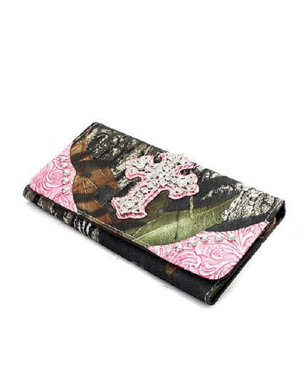 Mossy Oak Camo Pink Cross Wallet