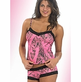 ba9271fe2e5 Naked North Pink Camo Lingerie Camisole and Boyshort