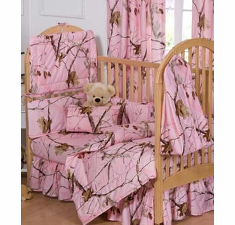 Realtree Ap Pink Camouflage Crib Bedding 3pc