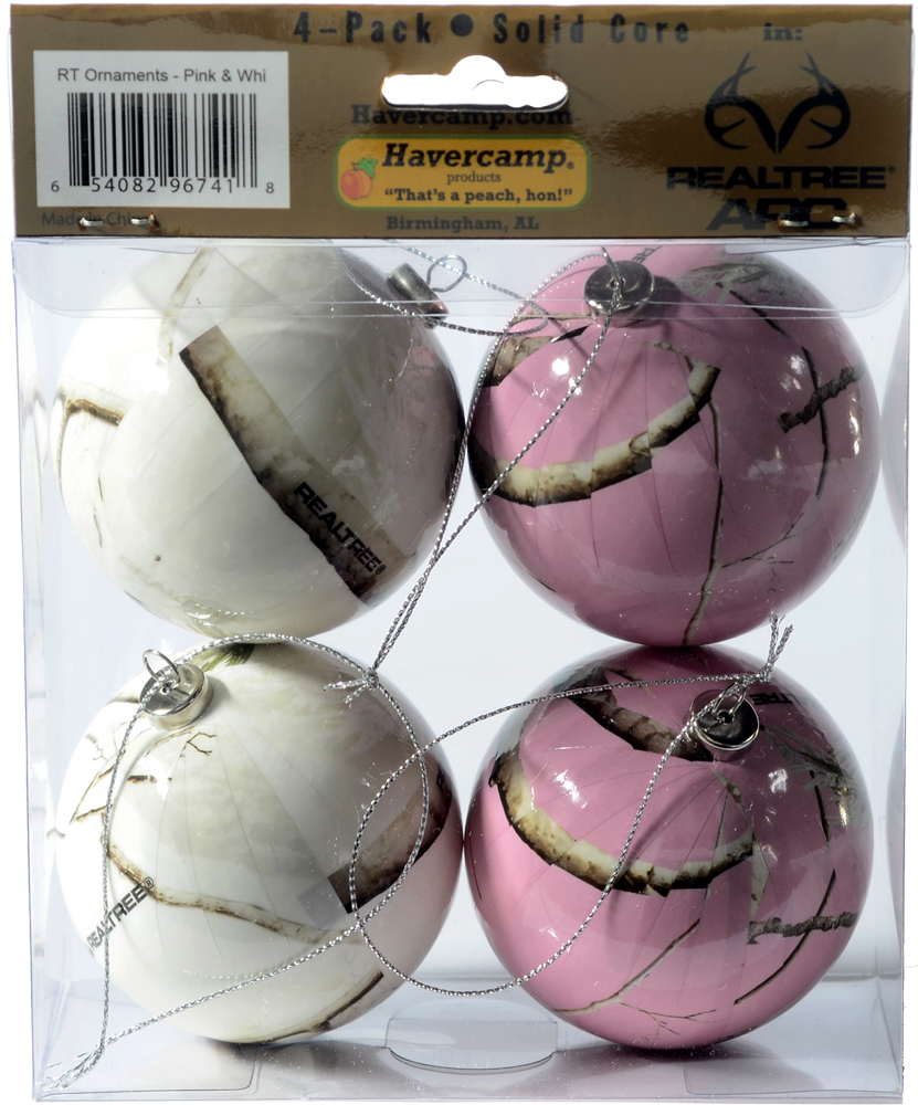 Nice Pink Camo Christmas Ornaments Part - 9: Realtree Camo Christmas Ornaments - Pink U0026 White