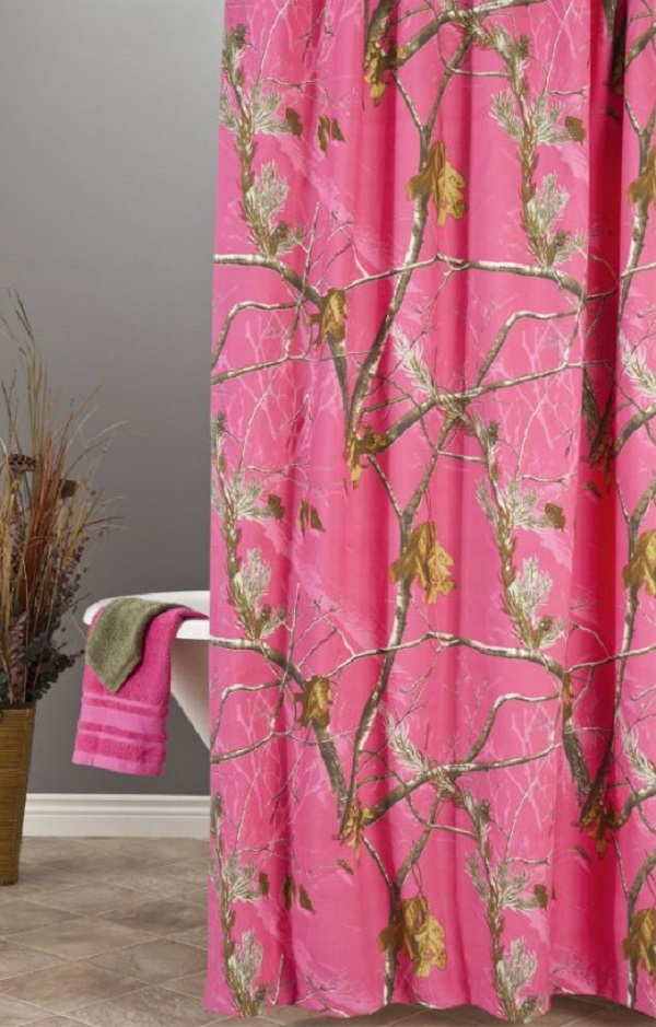 Realtree Hot Pink Fuchsia Camo Shower Curtain