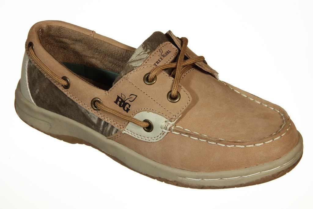 Realtree Girl Leather Boat Shoes