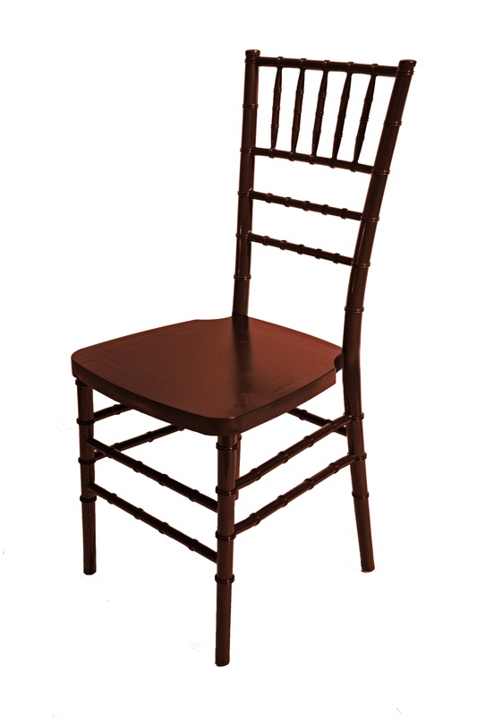 max mahogany resin steel core chiavari chair